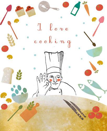 I love cooking, a lot! by la casa a pois