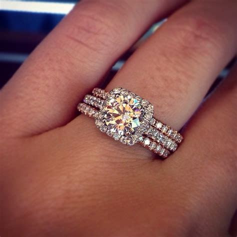 Crazy? white gold engagement ring with a rose gold band?