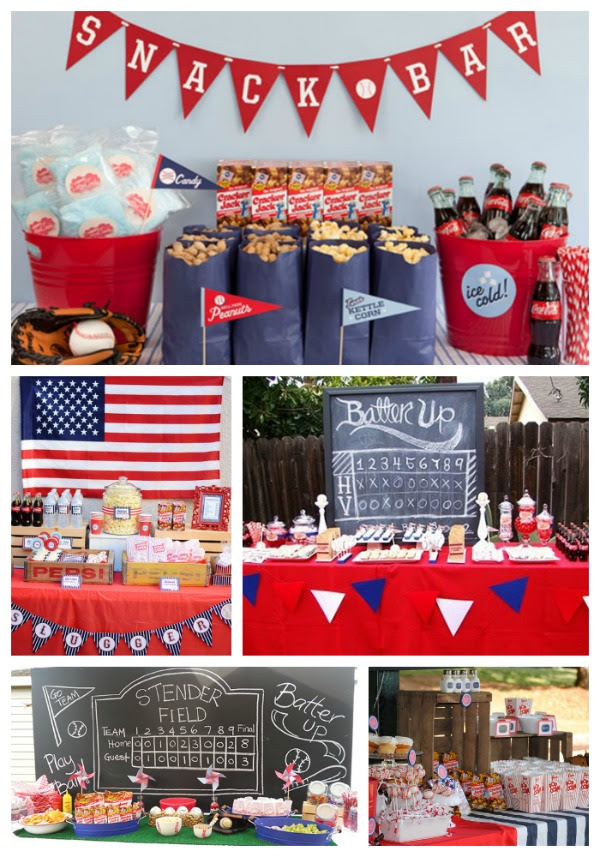 Baseball Party Concessions B Lovely Events