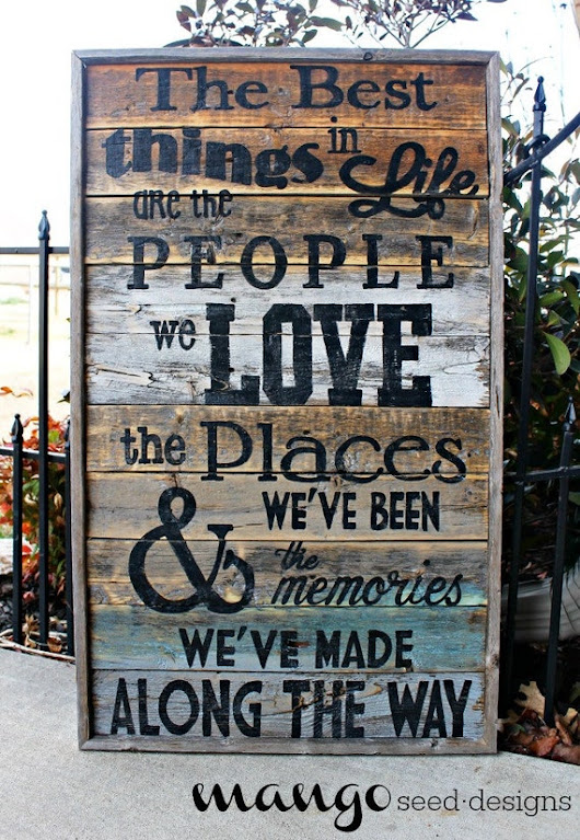 Best Things In Life Rustic Wood Sign / 17 by mangoseedmarketplace