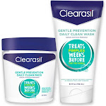 Clearasil Gentle Prevention Daily Acne Kit With Oil-Free Facial Cleansing Pads 90 ct & Clean Face Wash 6.5 oz - 1 ea by Pharmapacks