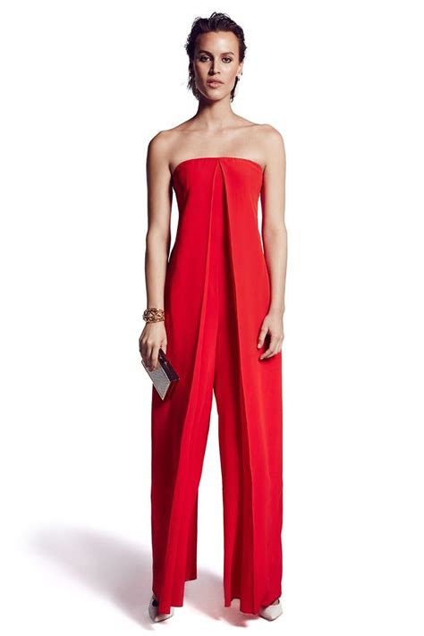 red formal jumpsuit fashion ql