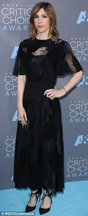 Pulling out all the stops: (L-R) The Affair star Maura Tierney (in Max Mara), American Horror Story's Lily Rabe and Carol actress Carrie Brownstein were dressed to impress