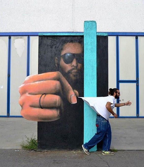 Πρωτοποριακά γκράφιτι που αλληλεπιδρούν με το αστικό περιβάλλον! (pics+video)