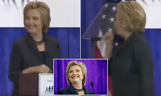 Hot mic catches Clinton trying to hide a cough at speech in Washington