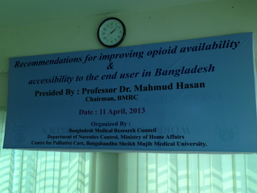 A letter from Bangladesh: IR Morphine at last!