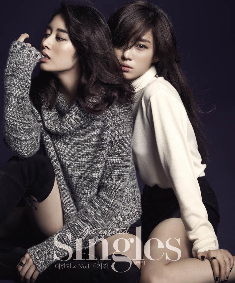 T-Ara Eun Jung, Hyo Min and Ji Yeon - Singles Magazine November Issue '14