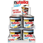 Nutella and Go Snack Packs, Chocolate Hazelnut Spread with Breadsticks, 1.8 Ounce, Pack of 24