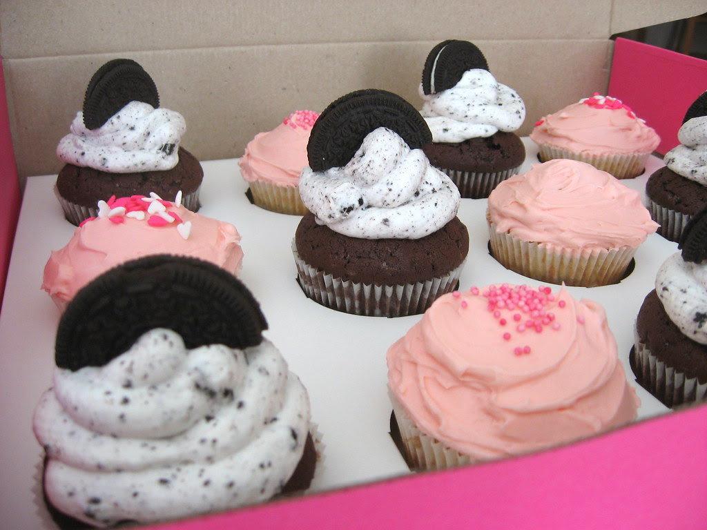 Oreo and Think Pink cupcakes