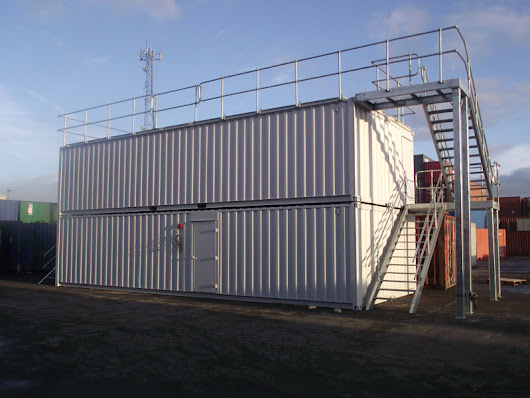 Storage Container Converted for Fire Training