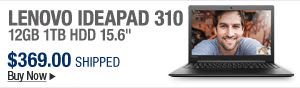 Newegg Flash – Lenovo Ideapad 310 12GB 1TB HDD 15.6""