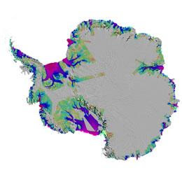 Antarctica: gaining weight in the middle, but losing more at the edges.
