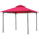 International Caravan Square Vented Canopy Gazebo, Cranberry