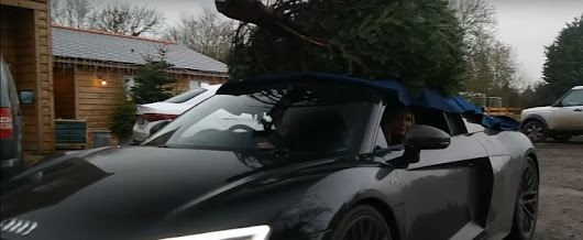 Audi R8 Couple Goes Christmas Tree Shopping in Their 2016 R8 V10 Plus