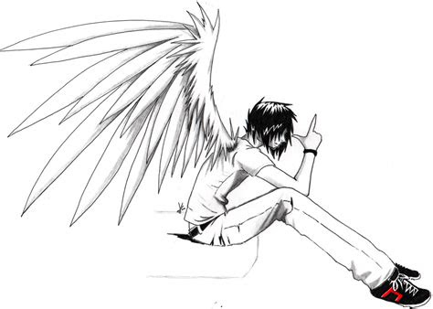 ulgobang emo anime angel boy