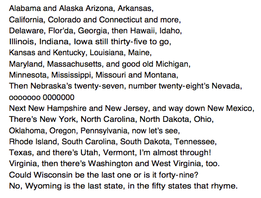 Us States In Alphabetical Order Song on