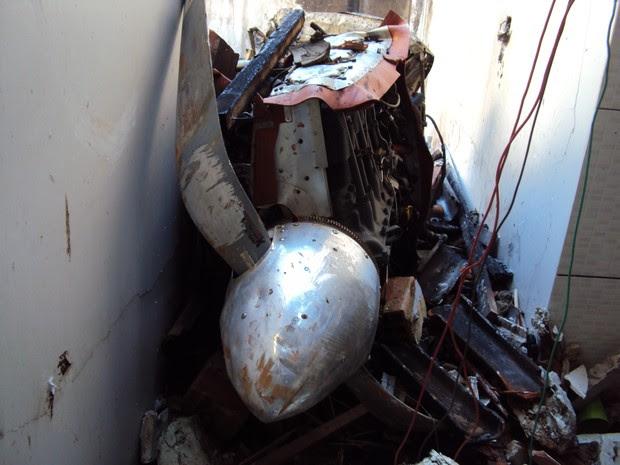 Avião cai em cima de casa e mata cinco em Balsas, MA (Foto: Divulgação / Polícia Civil)