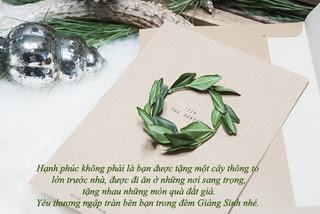 Lời chúc Giáng sinh bằng thiệp hay, ý nghĩa tặng bạn bè người thân