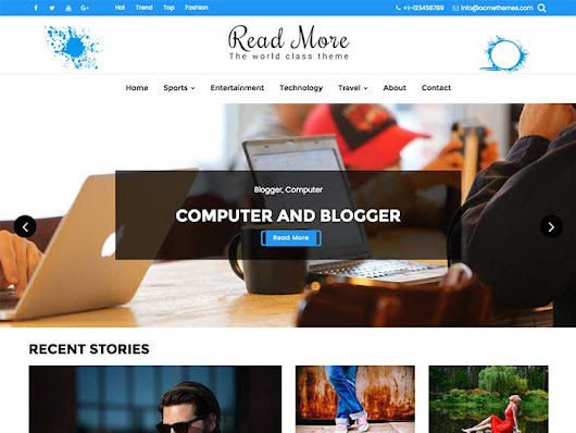 Read More - Responsive, Beautiful and Flexible WordPress Blog Theme
