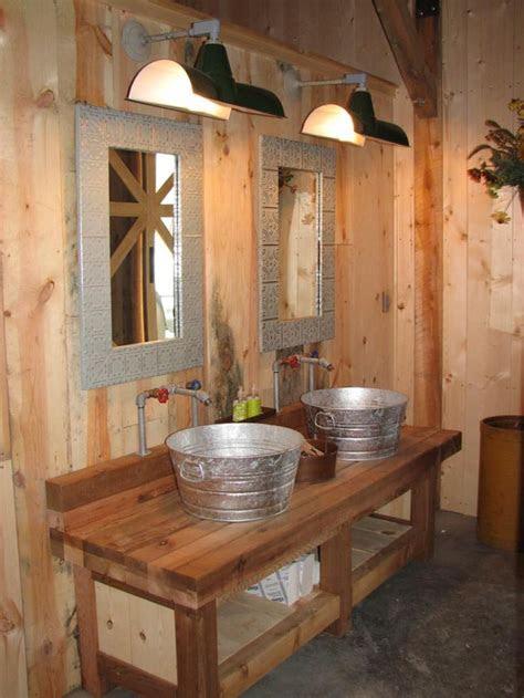 pole barn bathroom ideas images  pinterest
