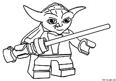 print out lego star wars yoda coloring pages  free