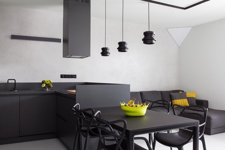 varied wall finishings to show many different modern solutions
