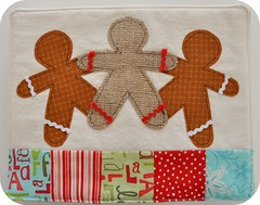 gingerbread men snack mat