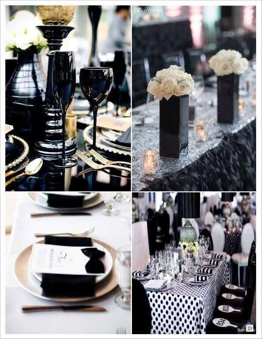 Decoration De Table Mariage Noir Et Blanc