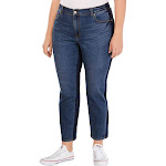 Style & Co. Womens Plus Kate High Rise Denim Slim Leg Jeans Blue 24W