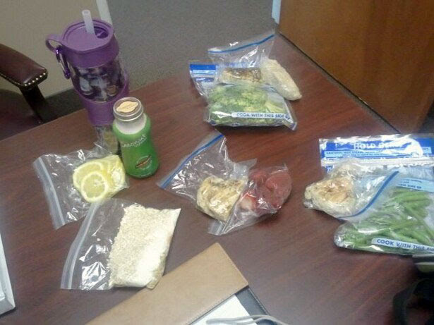 Chelle's clean eating cooler contents - figure competition diet.