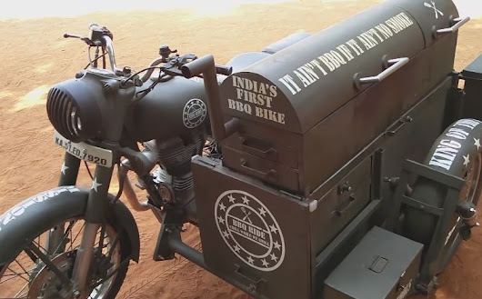 Bengaluru students turn bullet motorbikes into BBQ on wheels