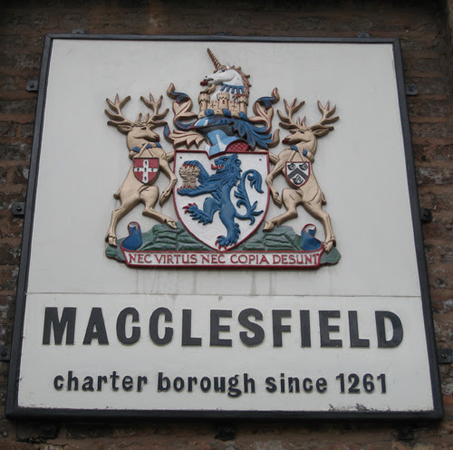 The arms of the former Macclesfield Borough Council granted 1960 and used until 1974