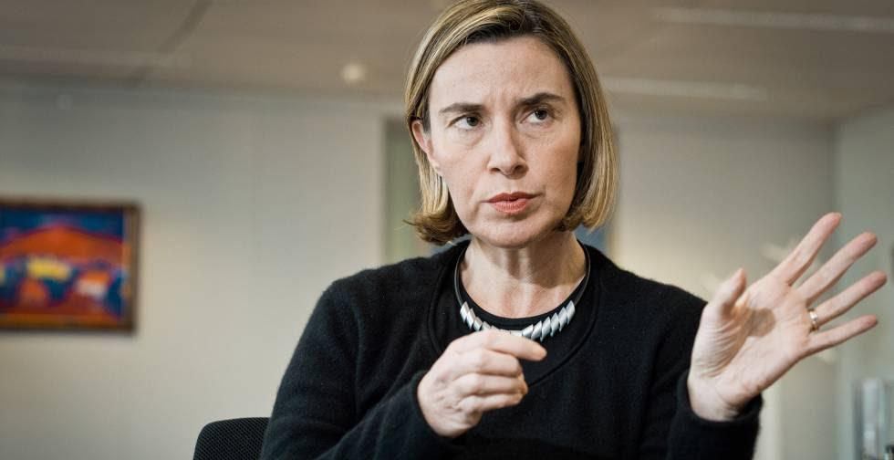 Federica Mogherini, en un momento de la entrevista.