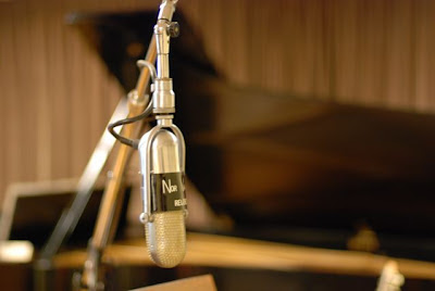 Microphone in the Norman Petty Recording Studios, Clovis, New Mexico