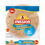 Mission Carb Balance Tortillas, Whole Wheat, Burrito - 8 tortillas, 20 oz