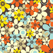 Retro Floral Seamless Pattern Vector Graphic