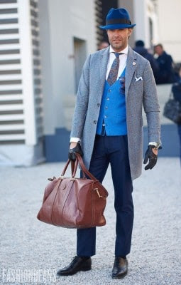 Victor Amaro, Photographed in Pitti Uomo<br/> Click Photo To See More