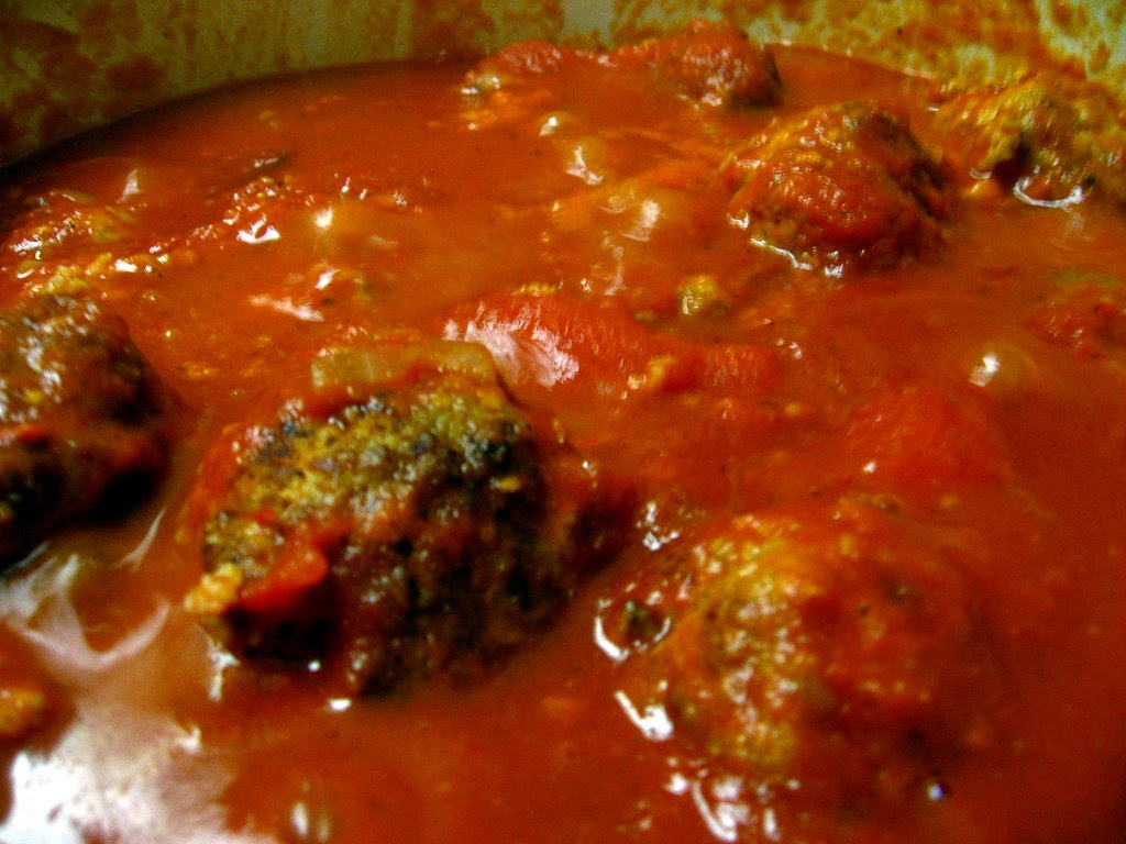 meatballs - steaming in sauce