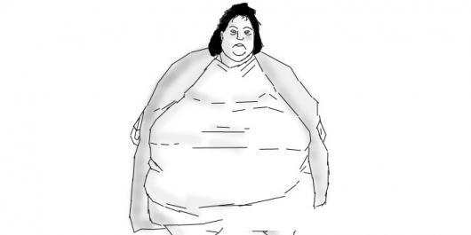 Obesidad Femenina Dibujo De Mujer Gorda Para Pintar Y Colorear