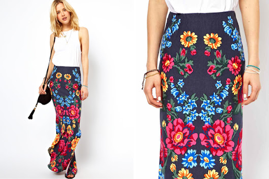 Colorful World of Maxi Plain Skirts
