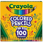 Binney & Smith CYO688100 Colored Pencils Assorted - Count 100