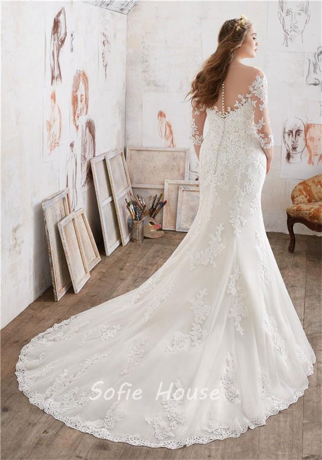 Amazing Wedding Dresses With Quarter Length Sleeves Gif