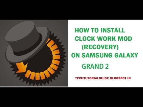 How to Install Clock Work Mod(CWM)  on Galaxy Grand 2 G7102