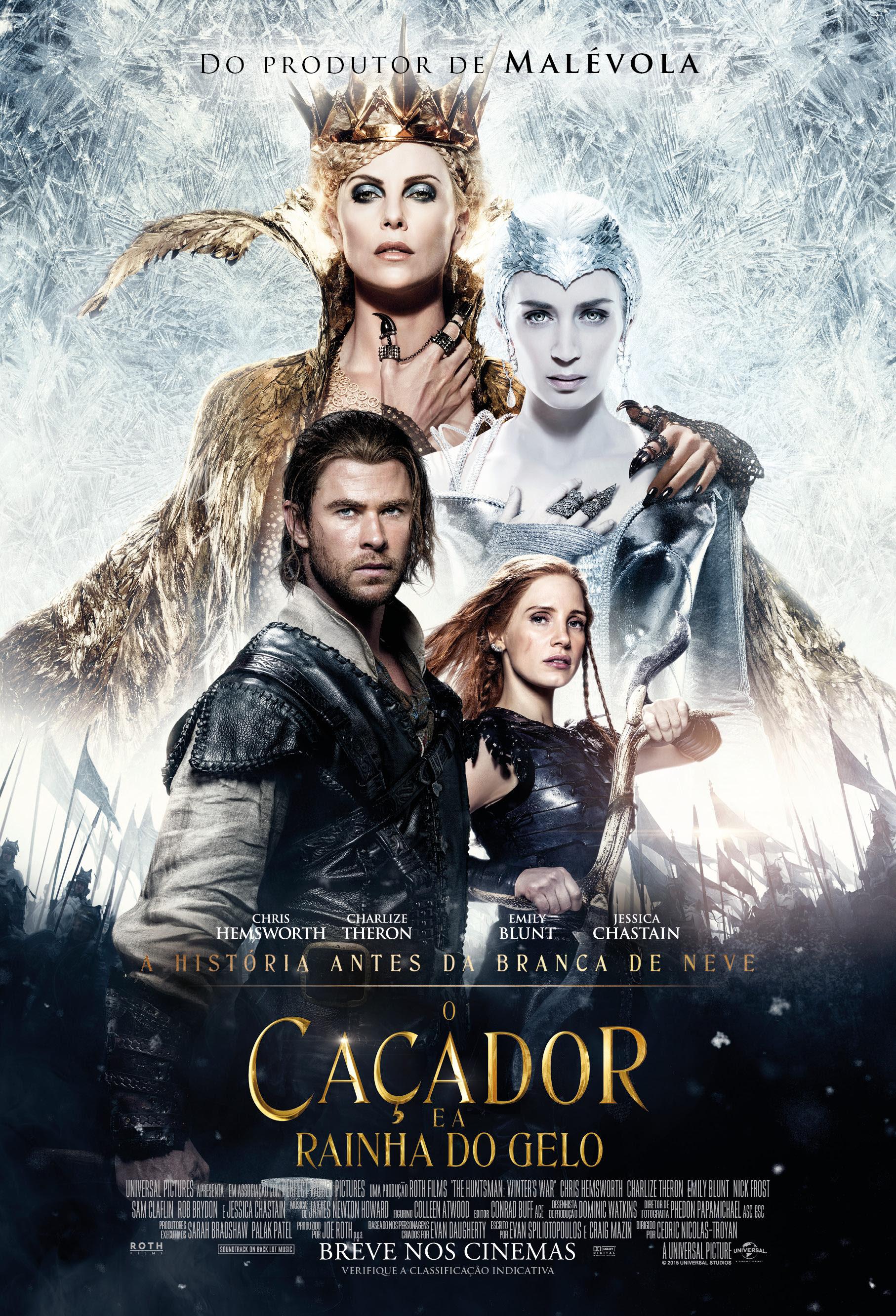 Resultado de imagem para o caçador e a rainha do gelo