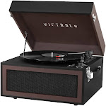 Victrola - Bluetooth Stereo Audio System - Brown Black