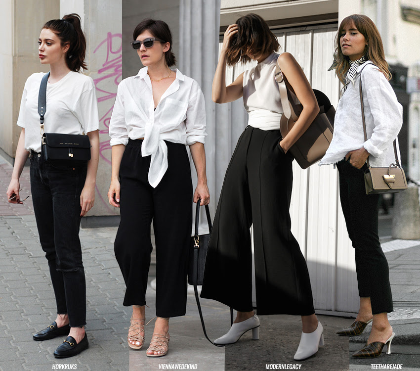 white-top-black-trousers