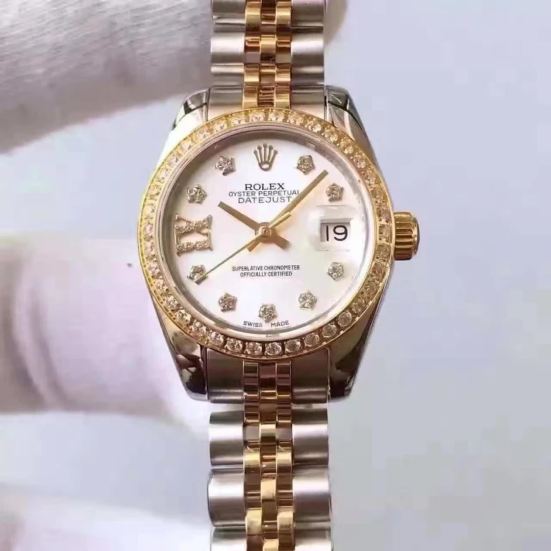 Two Tone 33mm Lady Rolex Datejust