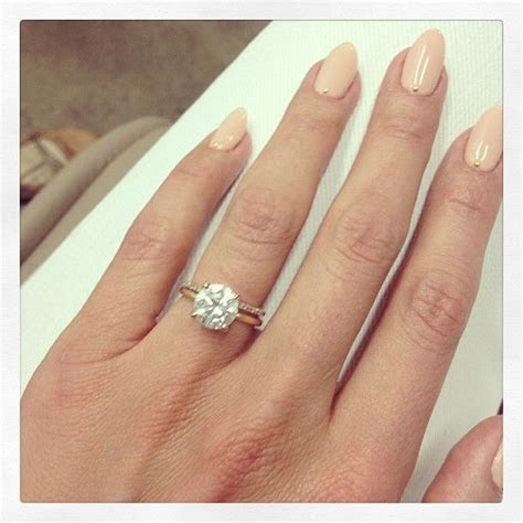 Cat Deeley engagement ring. Thin wedding band. ; I love it