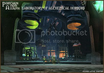 Postcards of Azeroth: Putricide's Laboratory of Alchemical Horrors and Fun, by Rioriel Ail'thera