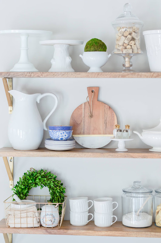 Styling 101: Styling Open Shelves In The Kitchen - The Home I Create